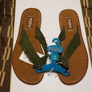 Mad love target flats sandals olive green color